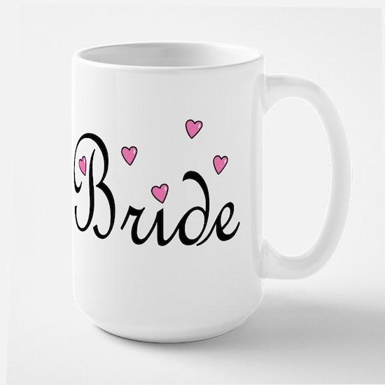 Bride (Pink Hearts) Large Mug