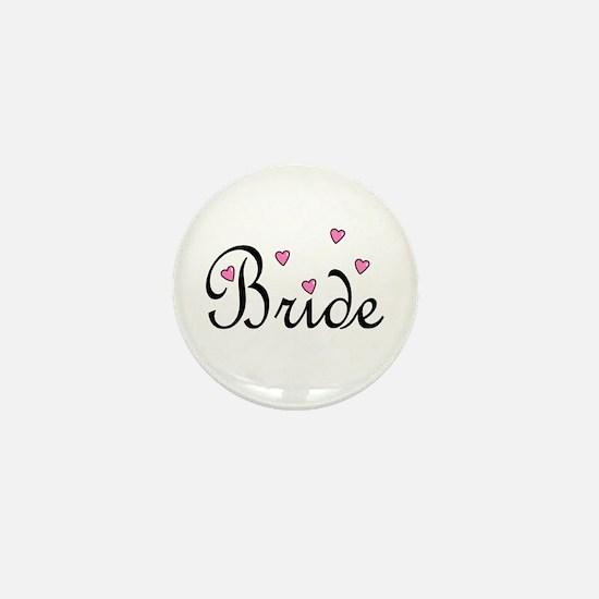 Bride (Pink Hearts) Mini Button