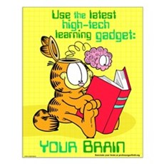 Use Your Brain Garfield Small Poster