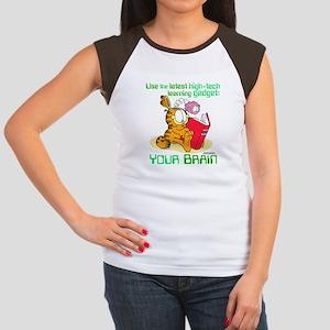 Use Your Brain Garfield Women's Cap Sleeve T-Shirt