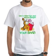 Use Your Brain Garfield White T-Shirt