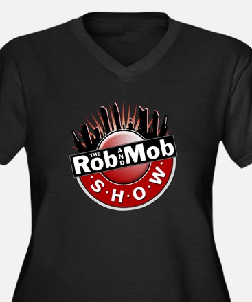 Rob and Mob Show Women's Plus Size V-Neck Dark T-S