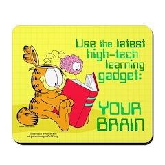 Use Your Brain Garfield Mousepad
