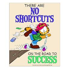 No Shortcuts to Success Small Poster
