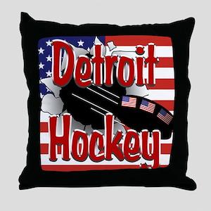 Detroit Hockey Throw Pillow