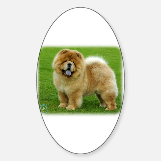 Chow Chow 9B008D-06 Sticker (Oval)
