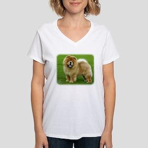 Chow Chow 9B008D-06 Women's V-Neck T-Shirt