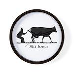 Ski Iowa Wall Clock