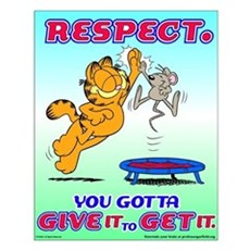 Respect Garfield Small Poster