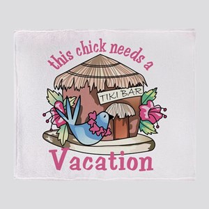 Chick Needs a Vacation Throw Blanket
