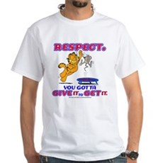 Respect Garfield White T-Shirt