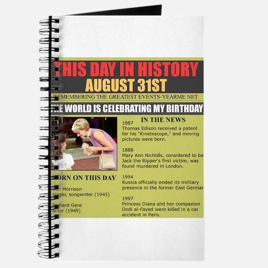 august 31th-birthday Journal