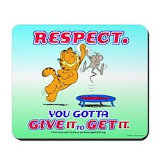 Respect Garfield Mousepad