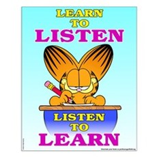 Learn to Listen Garfield Small Poster