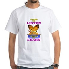 Learn to Listen Garfield White T-Shirt