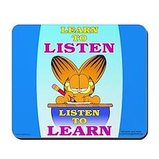 Learn to Listen Garfield Mousepad