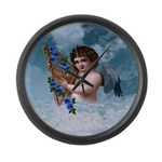 Stardust Angel : Large Wall Clock