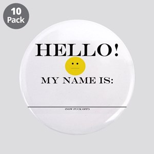 """BAD name tag!3.5"""" Button (10 pack)"""