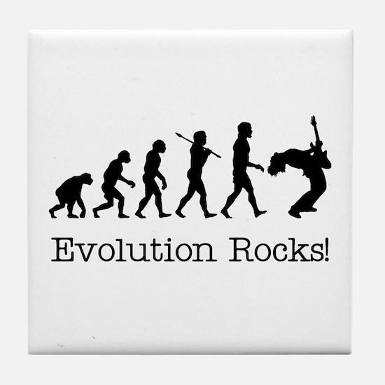 Evolution Rocks Tile Coaster