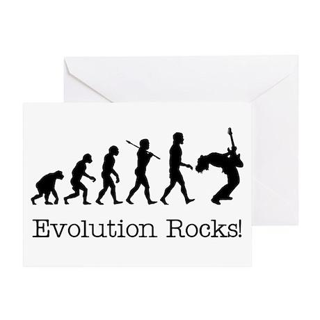 Evolution Rocks Greeting Card