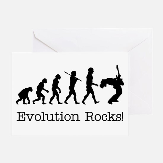 Evolution Rocks Greeting Card