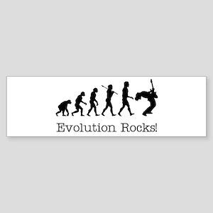 Evolution Rocks Bumper Sticker