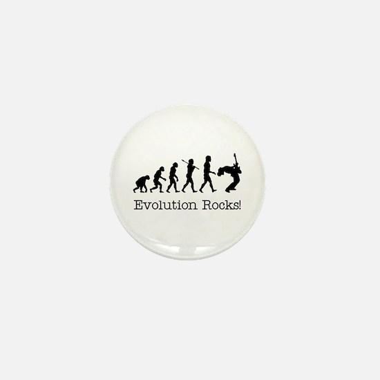 Evolution Rocks Mini Button