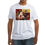 Santa's Corgi (#3P) Fitted T-Shirt