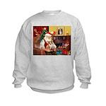 Santa's Corgi (#3P) Kids Sweatshirt
