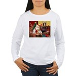 Santa's Corgi (#3P) Women's Long Sleeve T-Shirt