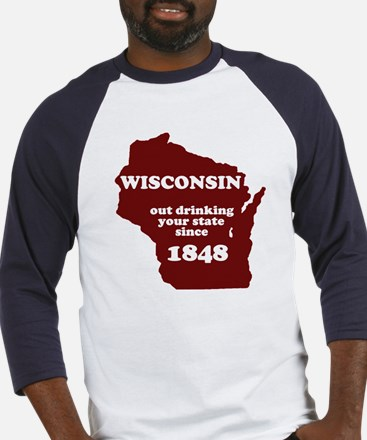 Wisconsin Outdrinking Your St Baseball Jersey
