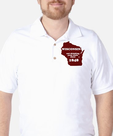 Wisconsin Outdrinking Your St Golf Shirt
