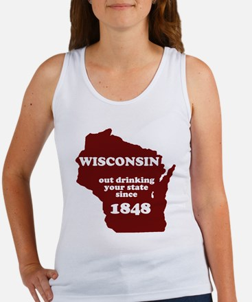 Wisconsin Outdrinking Your St Women's Tank Top