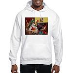 Santa's Welsh Corgi (7b) Hooded Sweatshirt