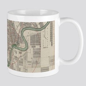 Vintage Map of Edmonton Canada (1912) Mugs