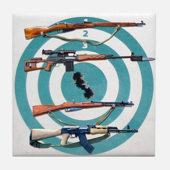 Russian Rifle Tile Coaster
