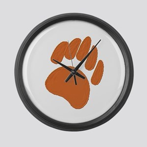 COPPER BEAR PAW Large Wall Clock