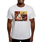 Santa's 2 Corgis (P2) Light T-Shirt
