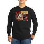 Santa's 2 Corgis (P2) Long Sleeve Dark T-Shirt