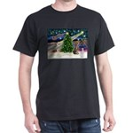 XmasMagic/Weimaraner 2 Dark T-Shirt
