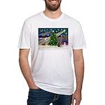 XmasMagic/Weimaraner 2 Fitted T-Shirt