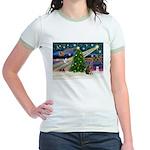 XmasMagic/Weimaraner 2 Jr. Ringer T-Shirt