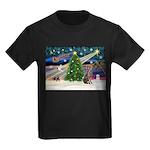 XmasMagic/Weimaraner 2 Kids Dark T-Shirt