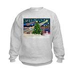 XmasMagic/Weimaraner 2 Kids Sweatshirt