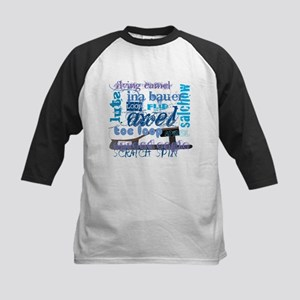 Language of Skating Kids Baseball Jersey