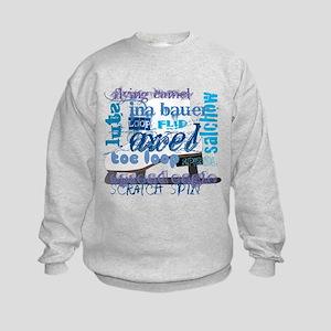 Language of Skating Kids Sweatshirt