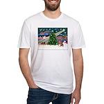 XmasMagic/Weimaraner 4 Fitted T-Shirt