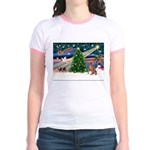 XmasMagic/Weimaraner 4 Jr. Ringer T-Shirt