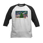 XmasMagic/Weimaraner 4 Kids Baseball Jersey