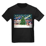 XmasMagic/Weimaraner 4 Kids Dark T-Shirt